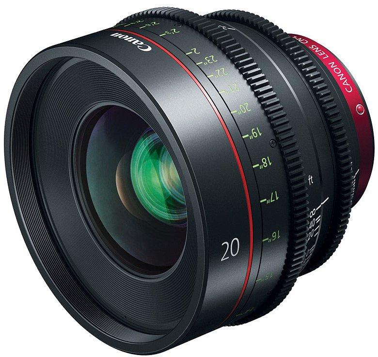 Объектив Canon CN-E20mm T1.5 L F фокусируется вручную
