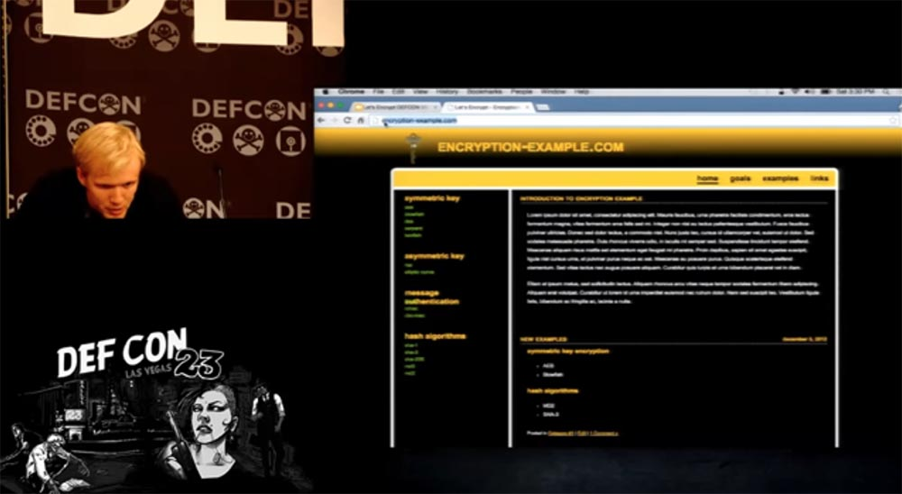 DEFCON 23. «Let'sEncrypt: чеканка бесплатных сертификатов шифрования для Интернет». Ян Жу, Питер Эккерсли, Джеймс Кастен - 11