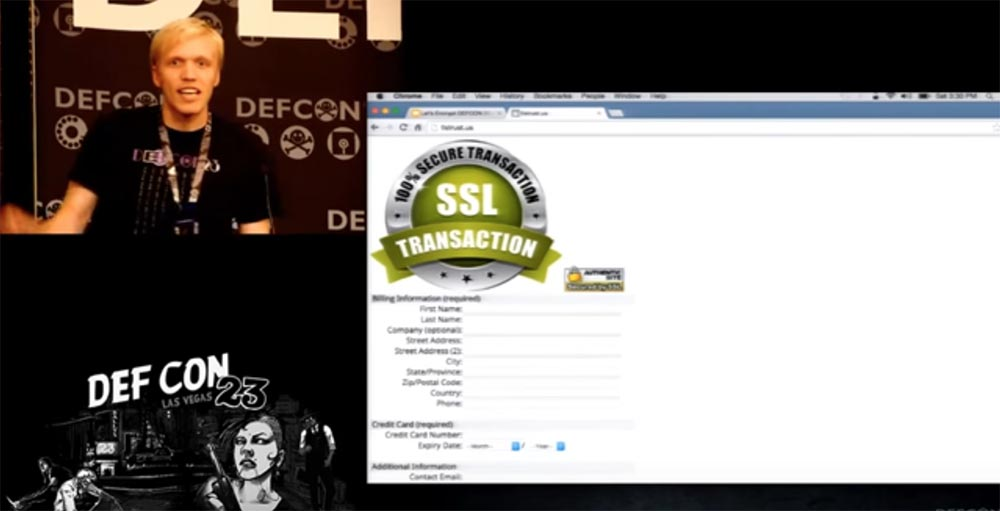 DEFCON 23. «Let'sEncrypt: чеканка бесплатных сертификатов шифрования для Интернет». Ян Жу, Питер Эккерсли, Джеймс Кастен - 13
