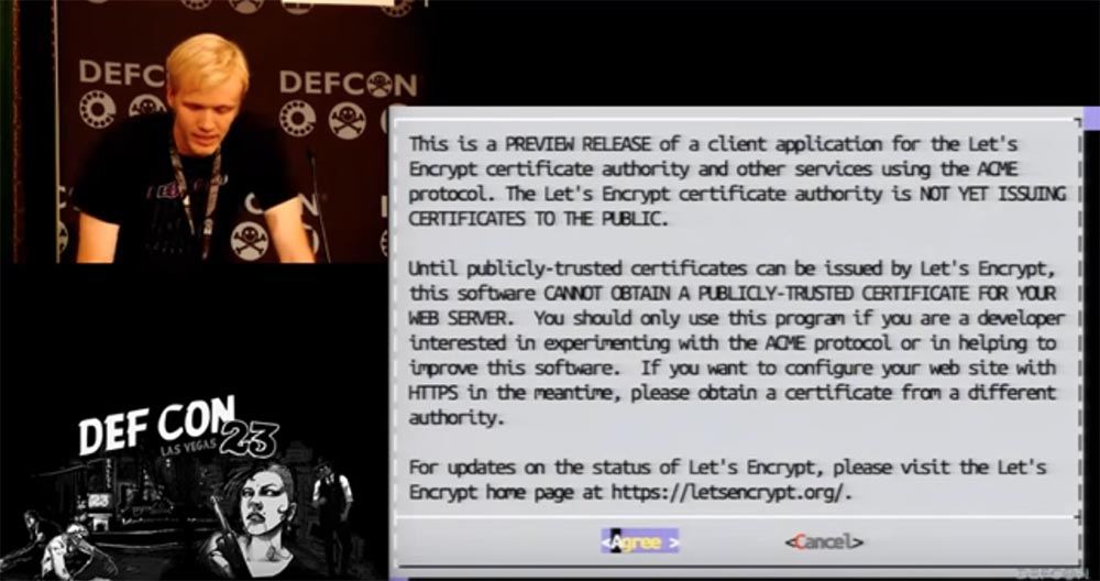DEFCON 23. «Let'sEncrypt: чеканка бесплатных сертификатов шифрования для Интернет». Ян Жу, Питер Эккерсли, Джеймс Кастен - 14