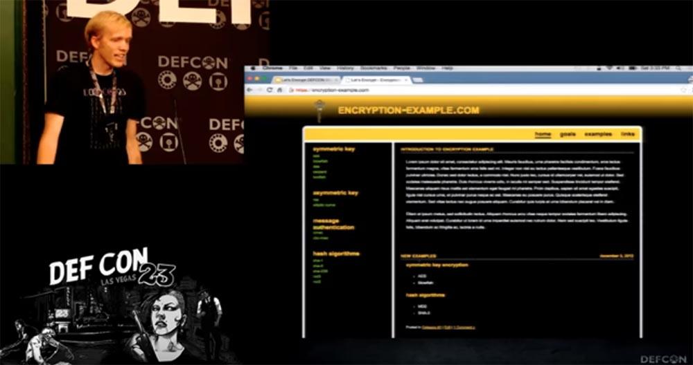 DEFCON 23. «Let'sEncrypt: чеканка бесплатных сертификатов шифрования для Интернет». Ян Жу, Питер Эккерсли, Джеймс Кастен - 17