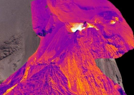 С помощью дронов удалось создать трехмерную карту действующего вулкана