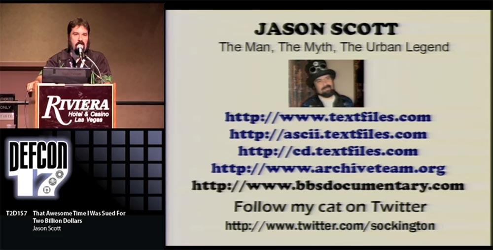 Конференция DEFCON 17. «Это восхитительное время, когда меня обвинили в ущербе на 2 миллиарда долларов». Джейсон Скотт - 18