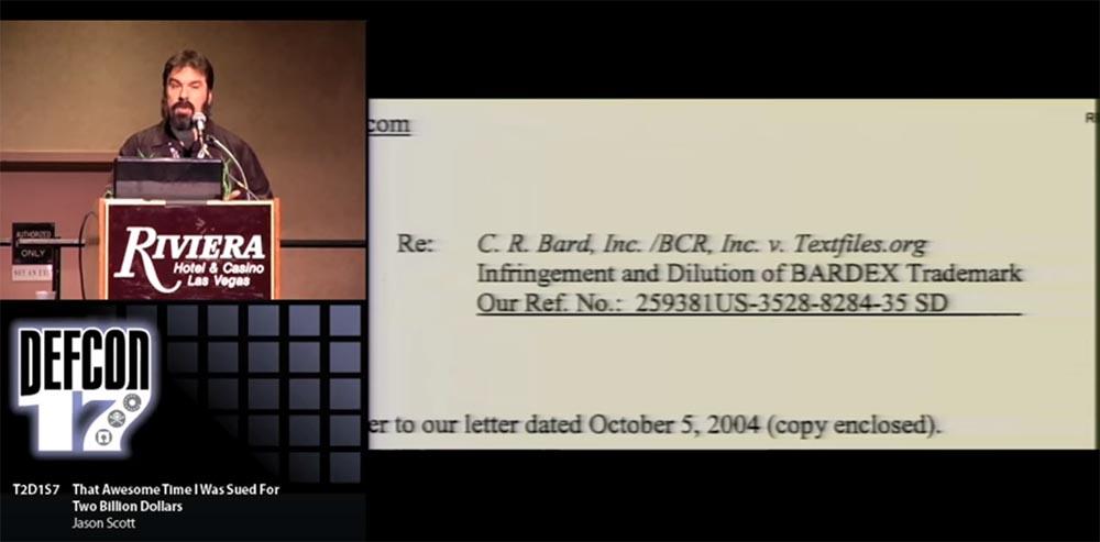 Конференция DEFCON 17. «Это восхитительное время, когда меня обвинили в ущербе на 2 миллиарда долларов». Джейсон Скотт - 3