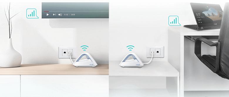 Комплект Asus Lyra Trio для создания сети Wi-Fi Mesh рассчитан на помещение площадью до 500 квадратных метров - 2