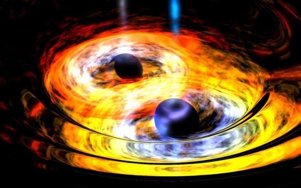 Спросите Итана: может ли материя убежать из-за горизонта событий во время слияния чёрных дыр? - 1
