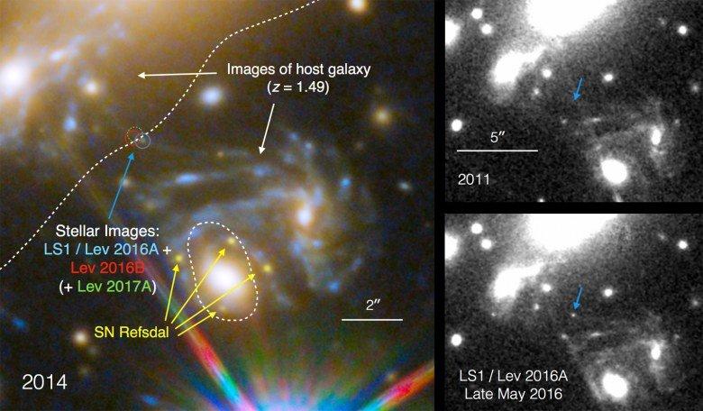Космический телескоп Hubble обнаружил самую далекую звезду