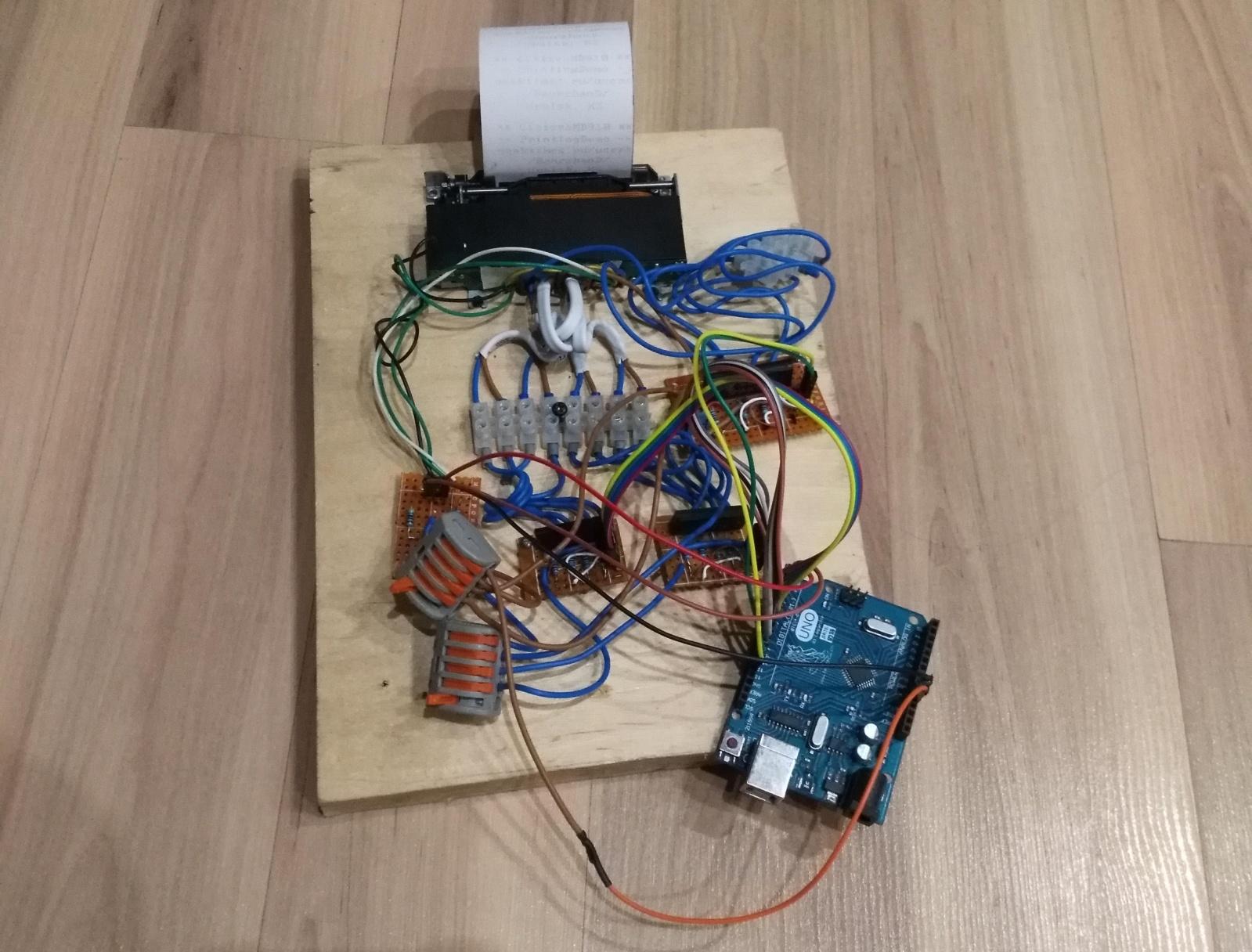 Как подключить матричный принтер MD910 от кассового аппарата Миника - 14