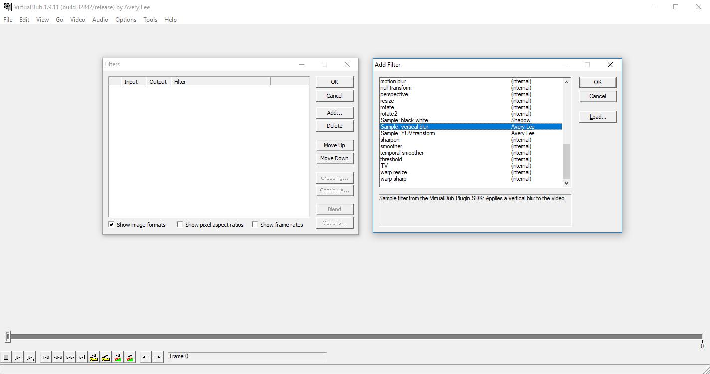 Пишем простой плагин для VirtualDub - 2