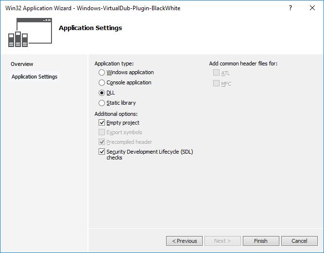 Пишем простой плагин для VirtualDub - 3