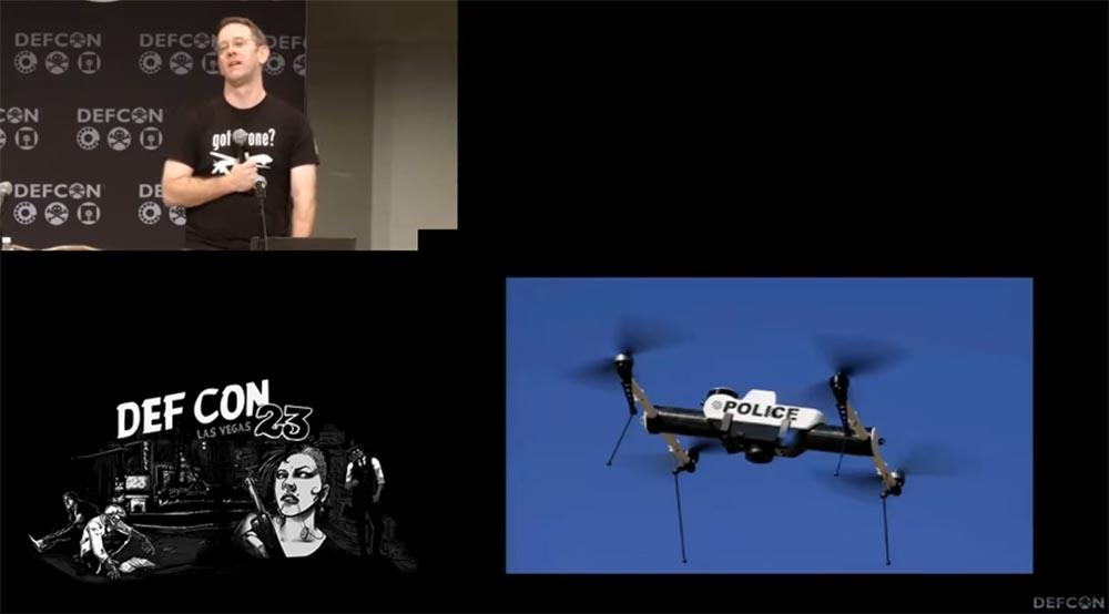 Конференция DEFCON 23. «Как я сбивал назойливый дрон соседского ребёнка». Майкл Робинсон - 6