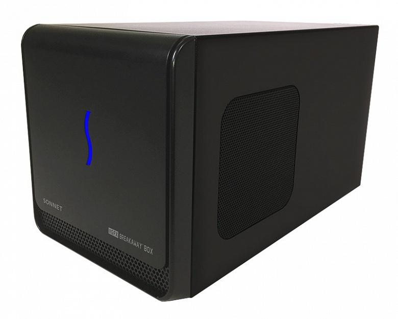 С помощью Sonnet eGFX Breakaway Box 650 можно подключить к ПК внешнюю 3D-карту, включая AMD Radeon RX Vega 64 и Nvidia GeForce GTX 10