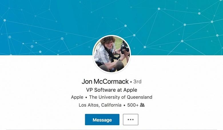 Apple наняла Джона МакКормака (Jon McCormack), ранее работавшего в Amazon и Google
