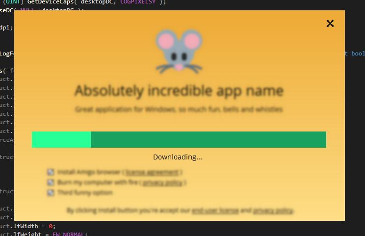 Веб установщик на чистом WINAPI с поддержкой Hi DPI и векторным лого - 3