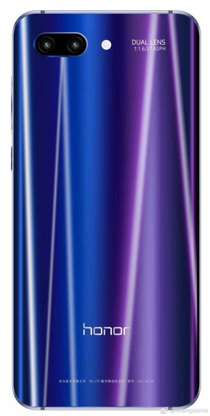 Опубликовано качественное изображение смартфона Honor 10