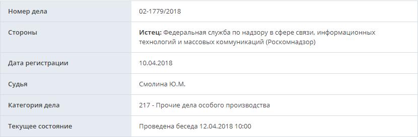 Роскомнадзор попросил суд немедленно заблокировать Telegram - 1