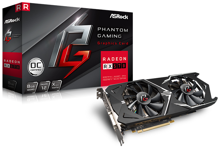 ASRock Phantom Gaming X Radeon RX 570 8G