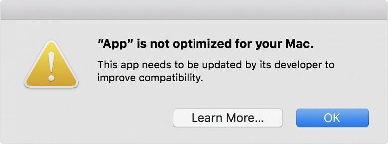 Apple начала предупреждать пользователей macOS о том, что они запускают 32-разрядное ПО - 2