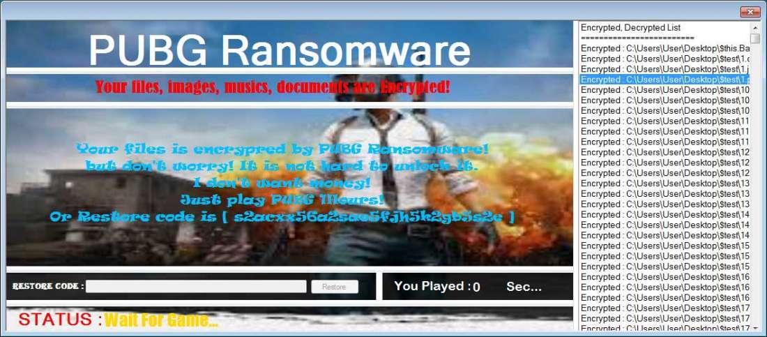 Новый шифровальщик освобождает ваши файлы, если вы играете в PUBG - 2