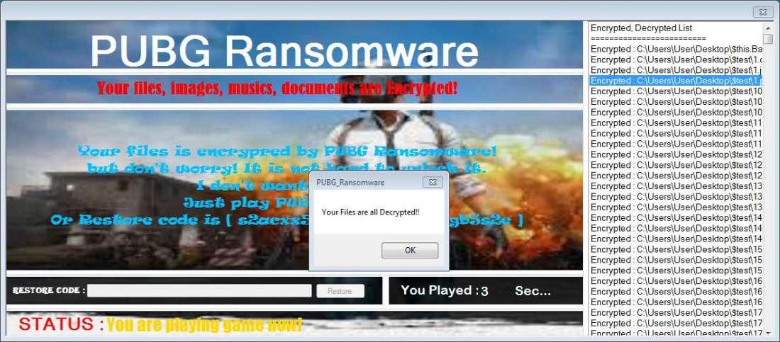 Новый шифровальщик освобождает ваши файлы, если вы играете в PUBG - 4