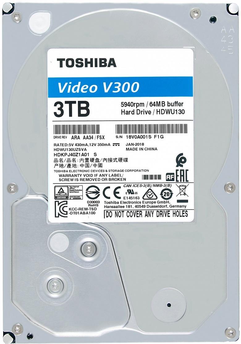 Представлены жесткие диски Toshiba V300 и S300