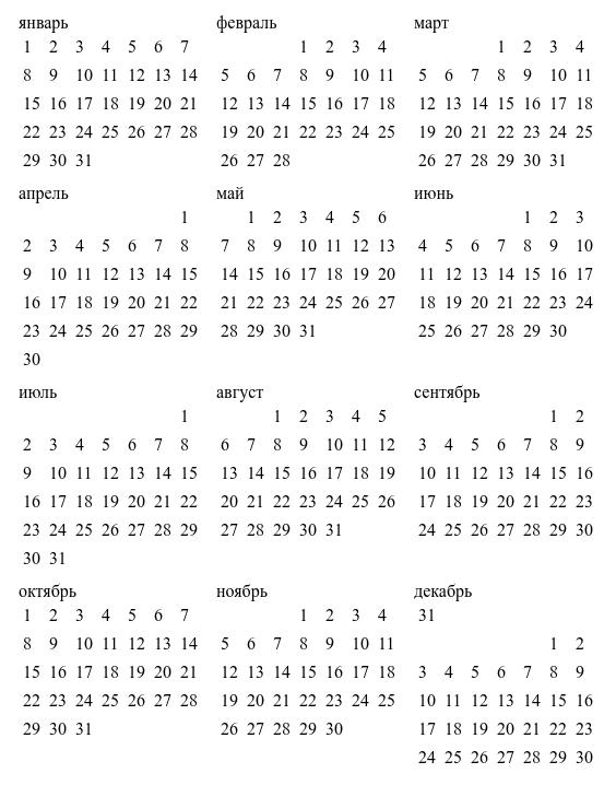Верстаем flex-календарик - 12