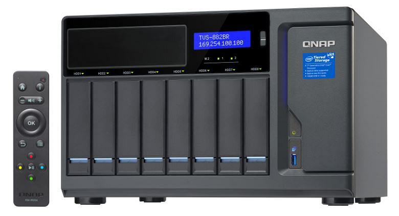 Хранилища QNAP TSV-882BR-RDX и TVS-882BRT3-RDX оснащены устройствами Tandberg RDX QuikStor