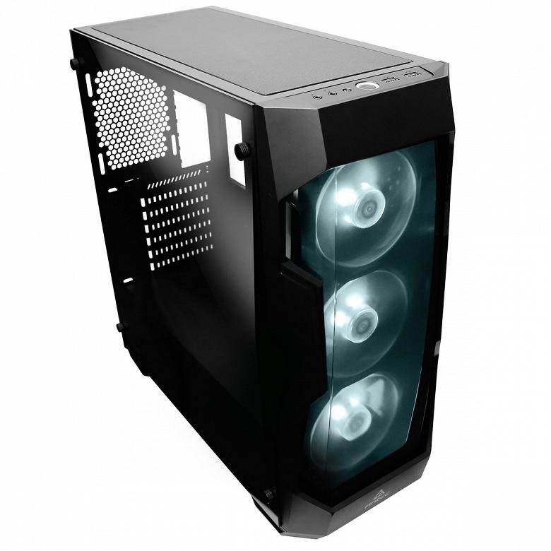 Передняя панель корпуса для игровых ПК Antec DF500 RGB сделана прозрачной