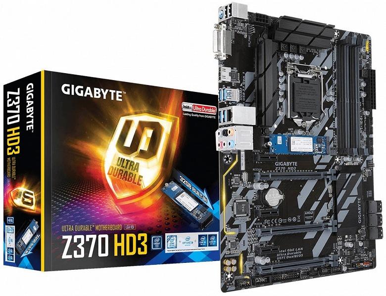 Системные платы Gigabyte Z370 Aorus оснащены памятью Intel Optane