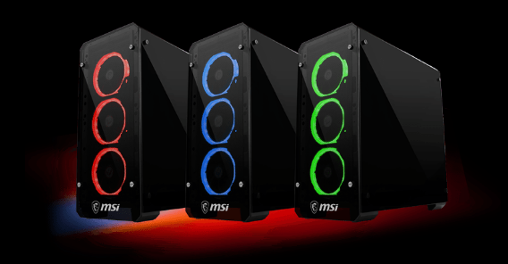 MSI Mag Pylon — компьютерный корпус со стеклянными панелями и тремя предустановленными вентиляторами с подсветкой - 2