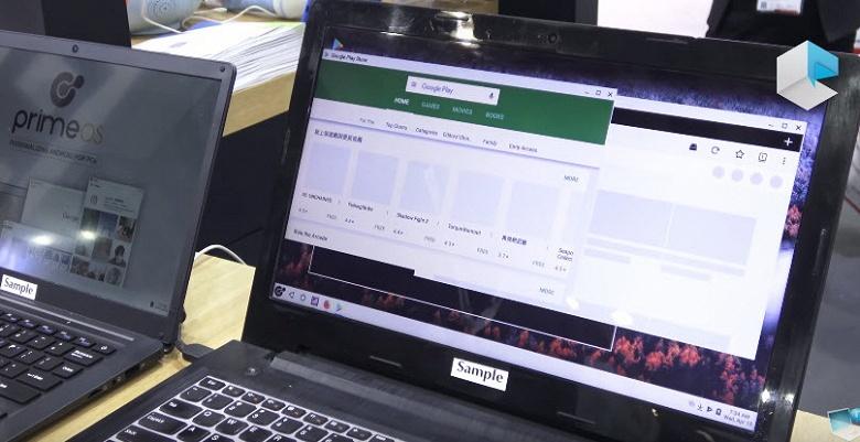 Ноутбук Primebook работает под управлением PrimeOS, созданной на базе ОС Android