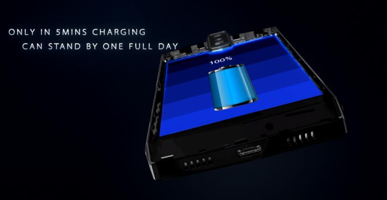 Долгоиграющий смартфон Blackview P10000 Pro заряжается током 5 А при напряжении 5 В