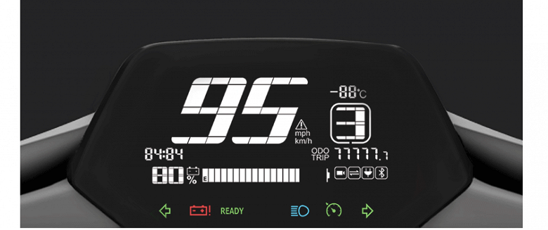 Xiaomi Super Soco CU Electric Smart — электроскутер со светодиодными фарами, круиз-контролем и камерой - 3