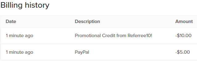 DigitalOcean PayPal Billing