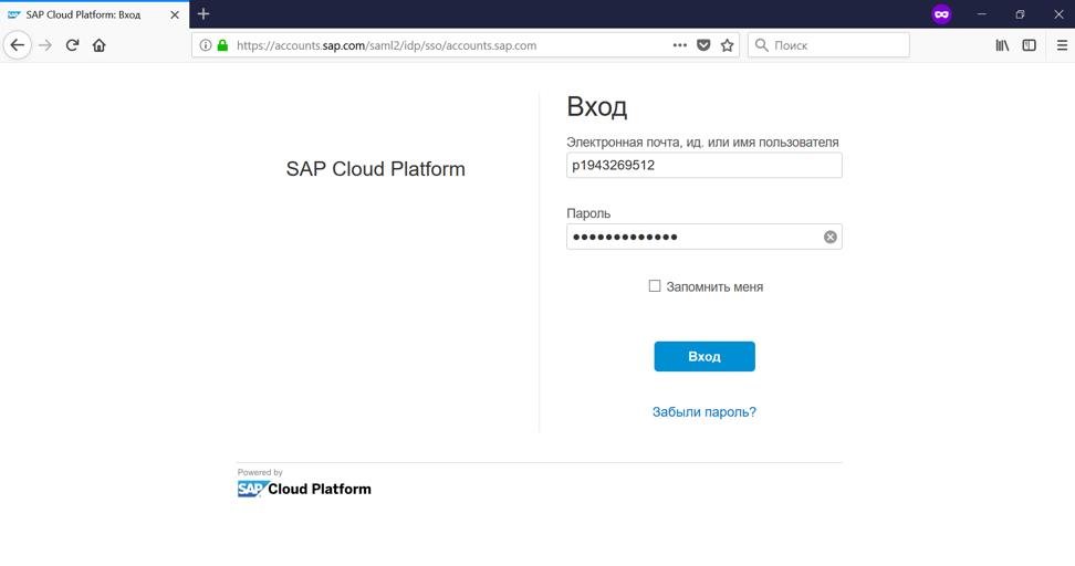 Настройка безопасности для приложений на облачной платформе SAP Cloud Platform - 44