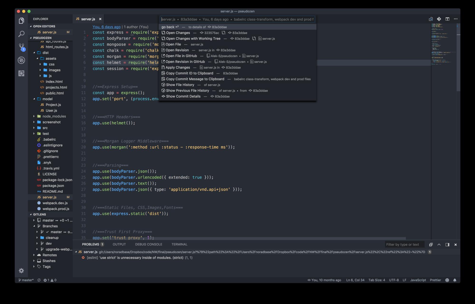 Расширения для VS Code и программирование на JavaScript - 1