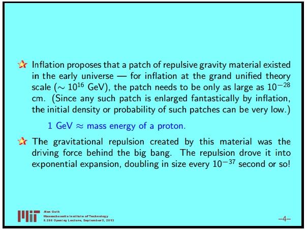 Ранняя вселенная 1. Инфляционная Космология: является ли наша вселенная частью мультивселенной? Часть 1 - 5
