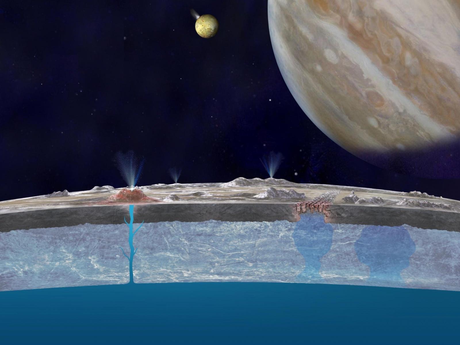 Данные, переданные давно уничтоженным космическим аппаратом, подтверждают существование гейзеров на Европе - 1