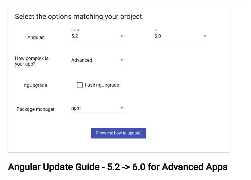 Обновляем Angular до 6-ой версии в проекте без использования CLI - 2