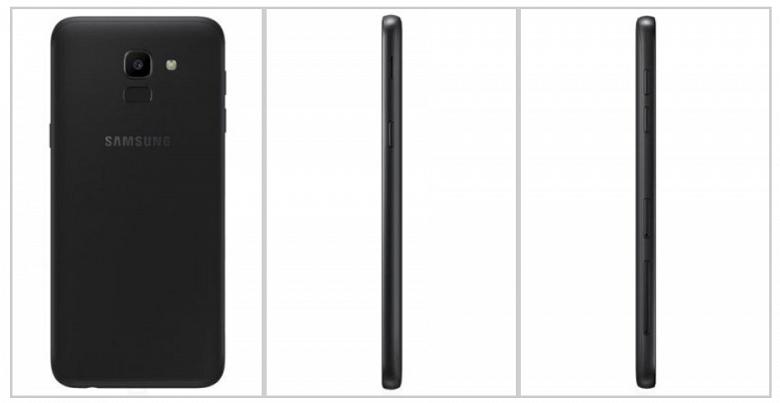 Официальные изображения подтверждают факт наличия у смартфона Samsung Galaxy J6 пластикового корпуса