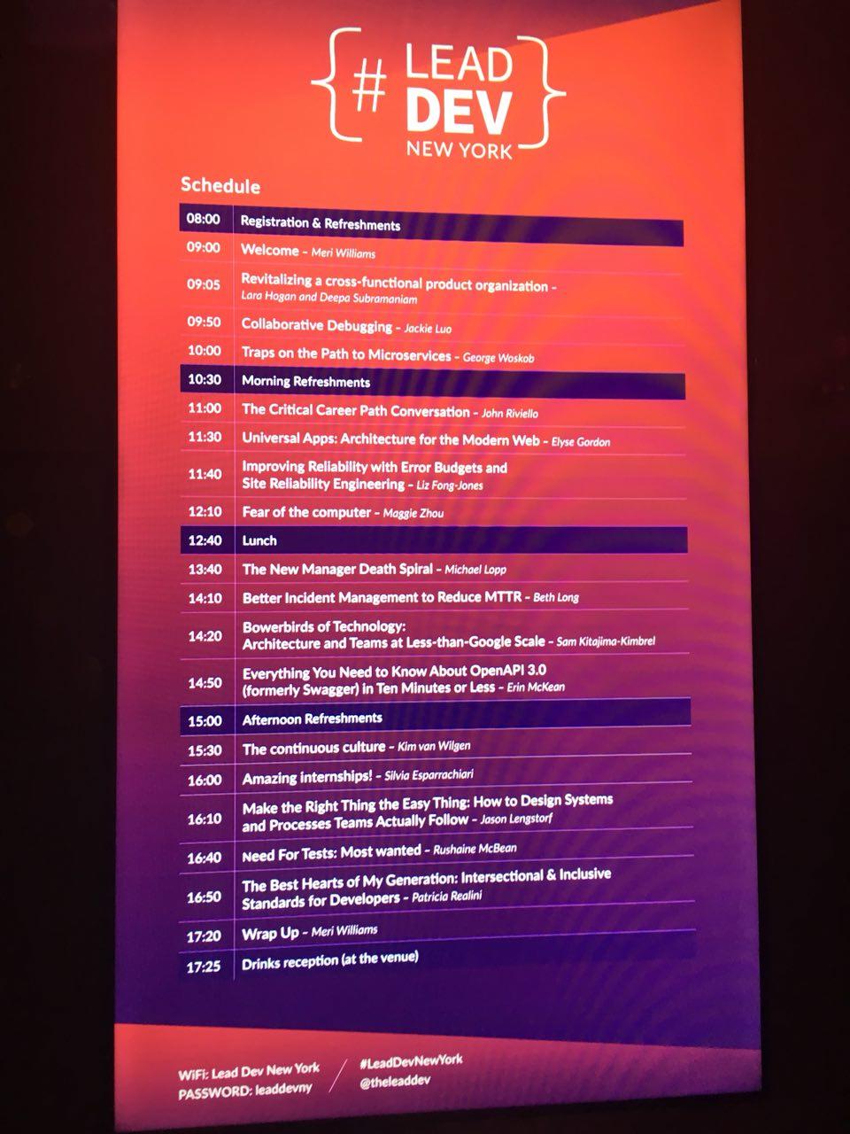 Lead Dev New York: обзор докладов и отзыв о конференции - 2