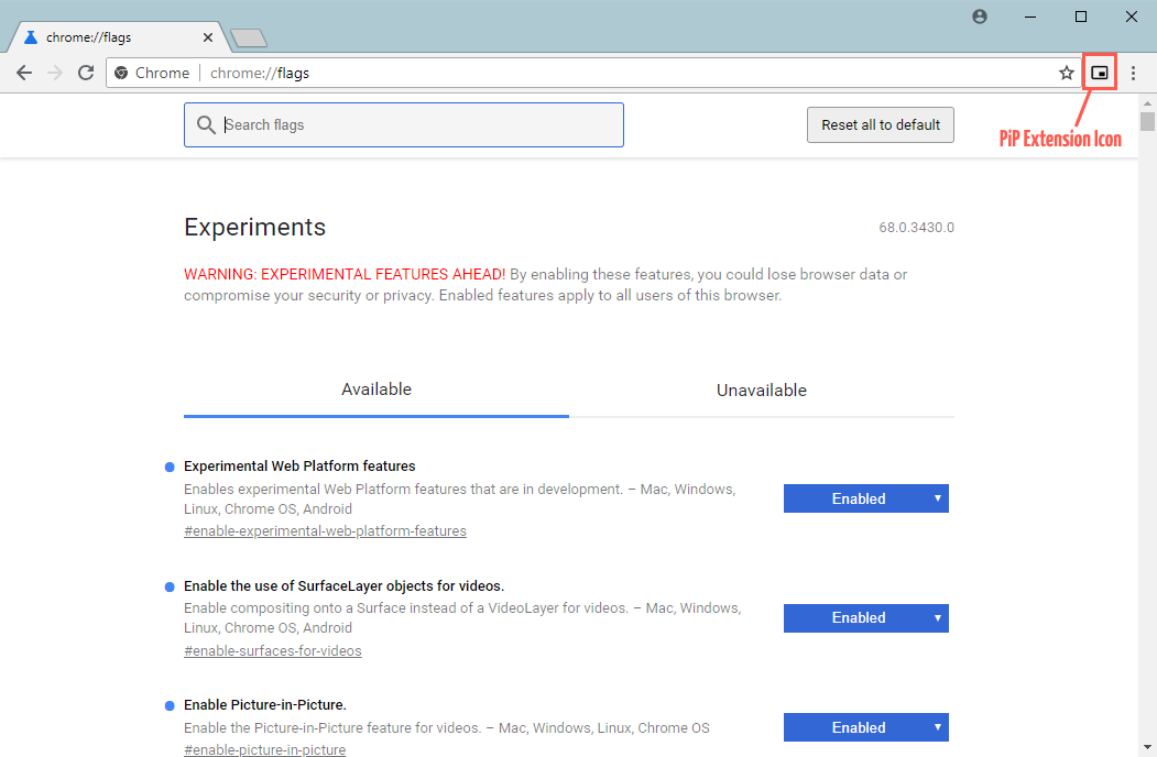 Chrome тестирует Picture-in-Picture API для всплывающих видео вне браузера - 2