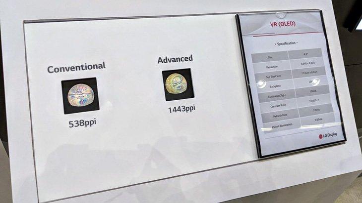 LG Display и Google представили экран для гарнитур VR диагональю 4,3 дюйма разрешением 4800 x 3840 пикселей