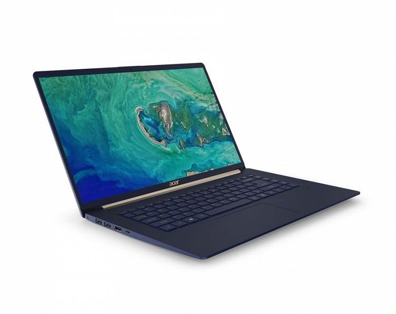 Экран ноутбука Acer Swift 5 стал больше