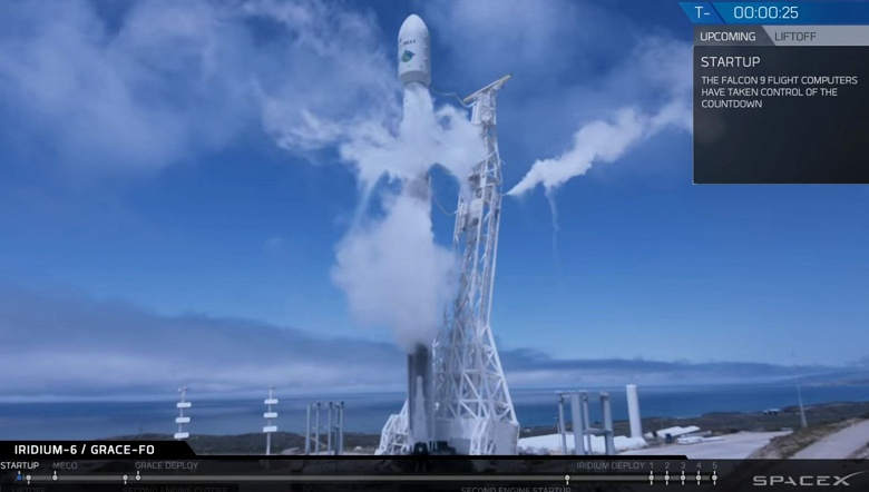 Ракета SpaceX Falcon 9 вывела на орбиту семь спутников