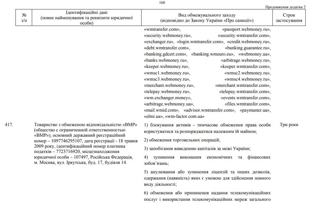 WebMoney попал под санкции в Украине - 1