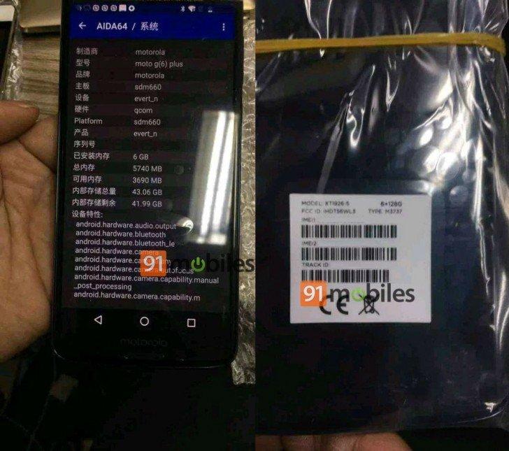 Смартфон Motorola Moto G6 Plus будет доступен в модификации с SoC Snapdragon 660 вместо Snapdragon 630