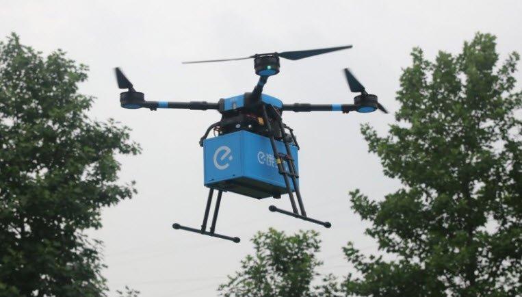 В Китае открыли сервис доставки еды при помощи дронов
