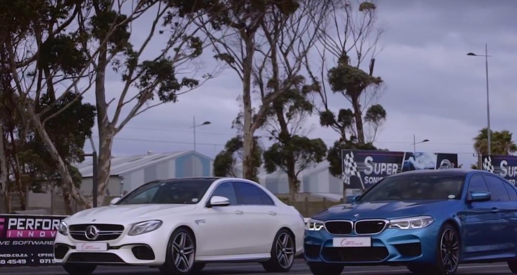 BMW M5 против Mercedes-AMG E63 S: дрэг-гонка