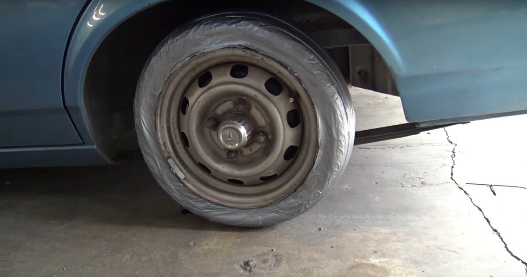 Можно ли сделать шину из клейкой ленты?